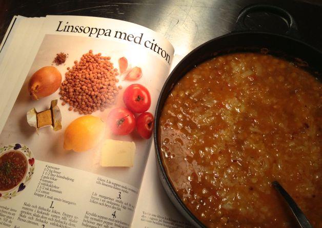 linssoppa med citron